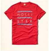 Hollister HCO Logo Men's Graphic T shirt Tee (L, Red Tee)
