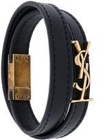 Saint Laurent Double Wrap Monogram bracelet