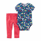 Carter's Girls 2 pc. Bodysuit Pant Set Mock