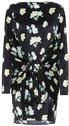 BERNADETTE Judy floral stretch-silk minidress