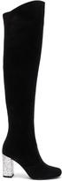 Saint Laurent BB Suede & Glitter Boots
