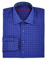 Robert Graham Boys' Diamond Print Dress Shirt - Big Kid