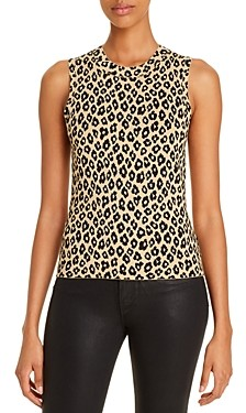Theory Leopard-Print Shell