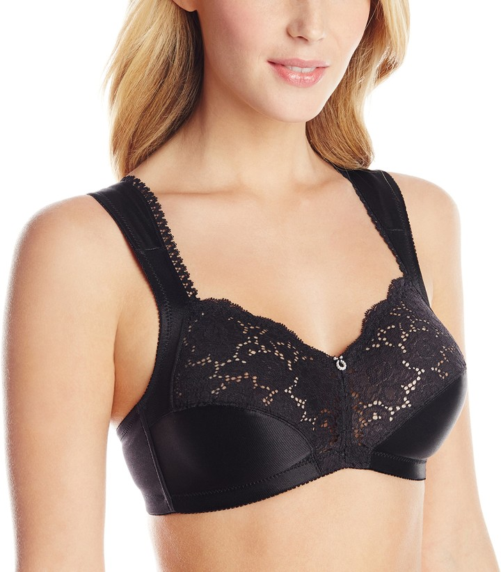 Wonderbra Women's Full Support Cushioned Strap Wire-Free Bra