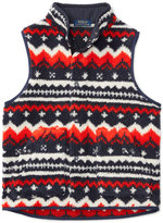 Ralph Lauren Soutwestern-Print Fleece Vest, Big Boys (8-20)