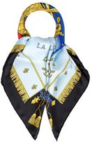 Hermes Vue Du Carrosse De La Galere Le Reale Silk Scarf