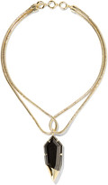 Noir Luster gold-tone cubic zirconia necklace