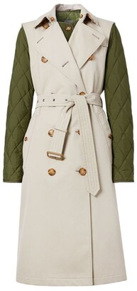 Burberry detachable warmer sleeveless trench coat