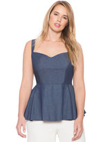 ELOQUII Plus Size Studio Chambray Tank