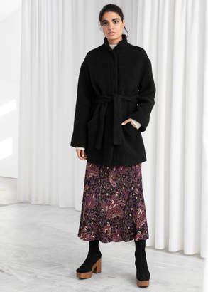 And other stories Wool Blend Belted Jacket