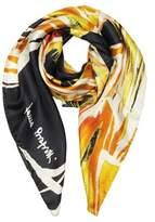 Laura Biagiotti Women's Orange/black Silk Foulard.