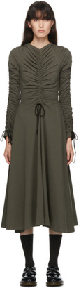 Molly Goddard SSENSE Exclusive Khaki Cotton Layla Dress