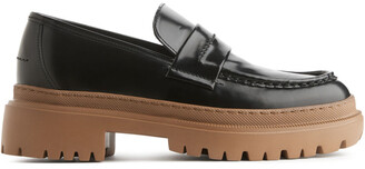 Arket Chunky-Sole Leather Loafers