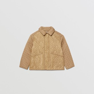 Burberry Childrens Monogram Quilted Panel Recycled Polyester Jacket