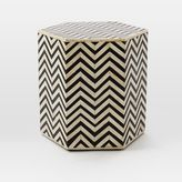 west elm Bone Inlaid Faceted Side Table