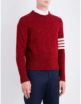Thom Browne Striped-sleeve Wool And Mohair-blend Jumper