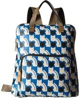 Orla Kiely Poppy Cat Print Backpack Tote