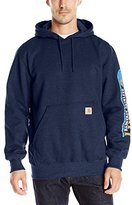 Carhartt Men's Rain Defender Paxton Heavyweight Hooded Sleeve Graphic Sweatshirt