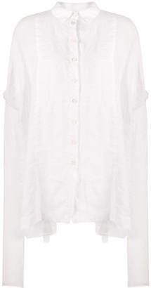 Masnada Oversized High-Low Hem Shirt