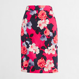 J.Crew Factory Factory printed pencil skirt in stretch cotton