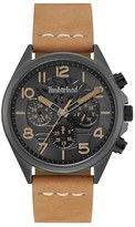 Timberland 'Bartlett II' Multifunction Leather Strap Watch, 44mm x 48mm