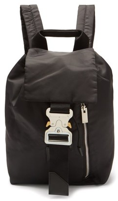 Alyx Rollercoaster-buckle Shell Backpack - Black