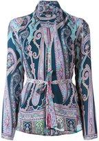 Etro printed wrap blouse