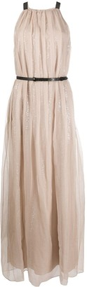 Brunello Cucinelli Sequinned Pleated Dress
