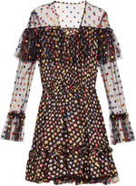 Marco De Vincenzo Polka-dot embroidered tulle dress