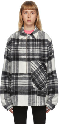 we11done Grey Wool Plaid Anorak Jacket