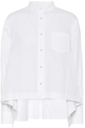 Sacai Cotton-blend poplin shirt