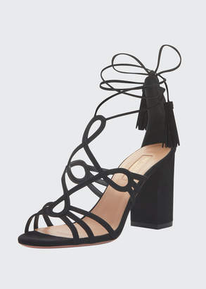Aquazzura Gitana 85mm Suede Sandals