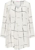 annalisa Plus Size Geometric print crêpe tunic