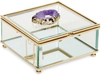 American Atelier Agate Decorative Glass Box