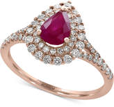 Effy Amoré by Ruby (3/4 ct. t.w.) and Diamond (1/2 ct. t.w.) Ring in 14k Rose Gold