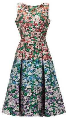 Mary Katrantzou Talon Metallic Floral-jacquard Dress - Womens - Multi