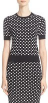 Michael Kors Women's Paillette Half Sleeve Top