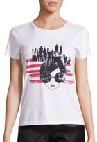 Alice + Olivia Cotton Stace Face NYC Graphic Tee