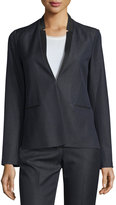 T Tahari Mikayla Inverted-Lapel Blazer Jacket, Indigo
