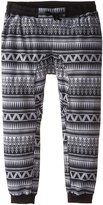 Southpole Men's Big-Tall Jogger Pants In Fleece Fabric with Drop Crotch and All Over Aztec Horizontal Patterns