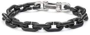 David Yurman Chain Link Bold Bracelet With Black Titanium