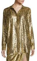 Michael Kors Silk Cheetah Blouse