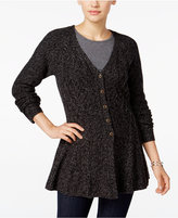 Style&Co. Style & Co. Ribbed Peplum Cardigan, Only at Macy's