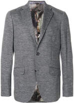Etro woven button-up jacket