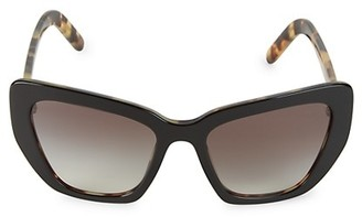 Prada 55MM Cat Eye Sunglasses