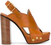 Chloé Mischa plateau sandals - women - Leather - 36.5