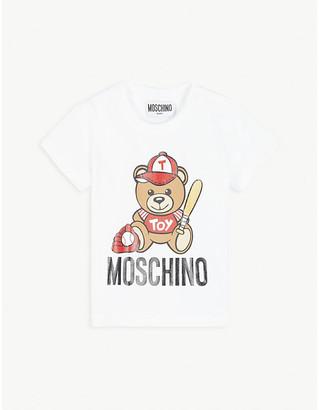 Moschino Baseball bear cotton-blend T-shirt 3-36 months
