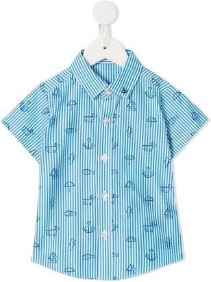 Familiar Mixed-Print Shirt