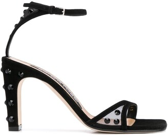 Sergio Rossi Stud-Embellished Heeled Sandals
