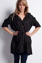 Secta - Soft Combed Light Coat, Black